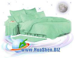 Bed linen set with biophotons